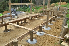 Concreting of the 27 poles